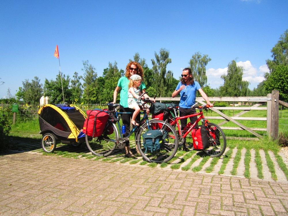 Natuurkampeerterreinen drenthe natuurkampeerroute - fietsroute