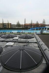 Zwembad verwarmen met SunDisc met behulp van de zon