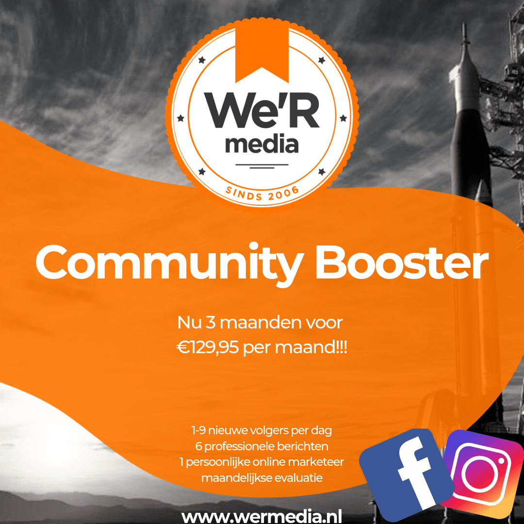 Community Booster banner