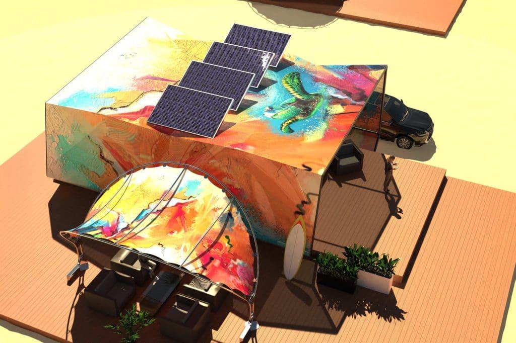 POV kite surfers vakantiebungalow