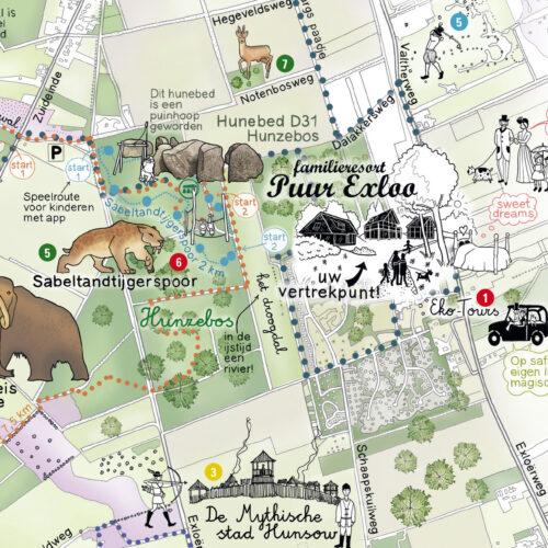 Landal Puur Exloo - kaart local hero